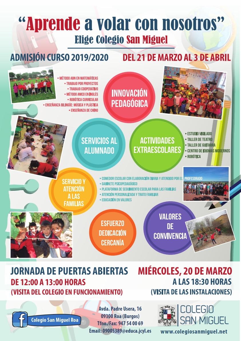 Colegio San Miguel Roa de Duero (Burgos) - Admisión Curso ...